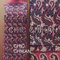 Chikan Embroidered Cotton Unstitched Suit