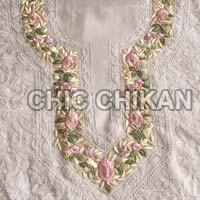 Chikan Embroidered Georgette Unstitched Suit