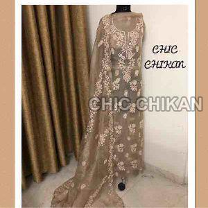 Chikankari Embroidered Fabrics