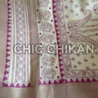 Chikan Embroidered Cotton Saree