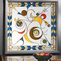 Decorative Window Glass 08