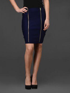 Double Zip Bodycon Skirt