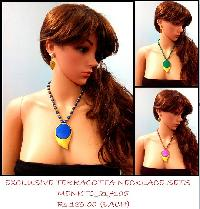 Terracotta Necklace could be used for official wear