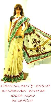 Wholesale Exclusive KHESH with Kalamkari Applic saree with Blouse