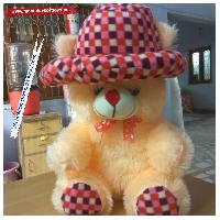Round Cap Teddy Bear