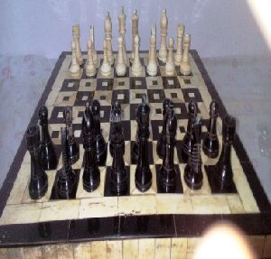 Horn and Bone Chess Board