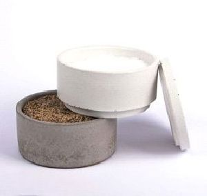Concrete Dog Bowl 06