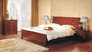 Wooden Double Bed 02