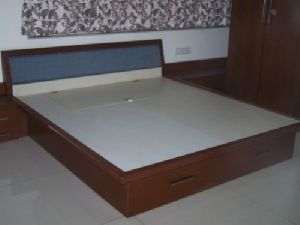 Wooden Double Bed 03