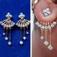 Gold Diamond Ear Studs
