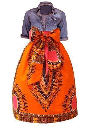 Ladies African Midi Skirt 02