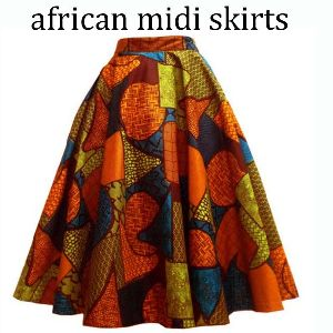 Ladies African Midi Skirt 01