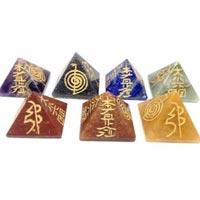 Agate Seven Chakra Pyramids