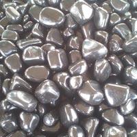 Agate Stone Black Tumbled