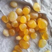 Agate Stone Onyx Yellow Tumbled