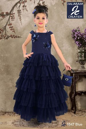 1647 - Girls Party Wear Gown