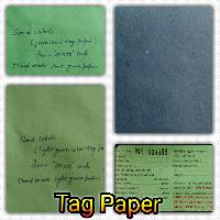 Multicolour Tag Papers