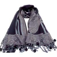 Ladies Woolen Jacquard Scarves