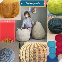 Cotton Poufs