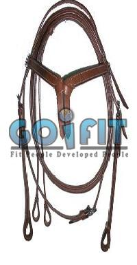 KLH 1001 Knotted Leather Headstall