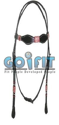 KLH 1005 Knotted Leather Headstall